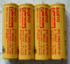 AA size NiCad battery set